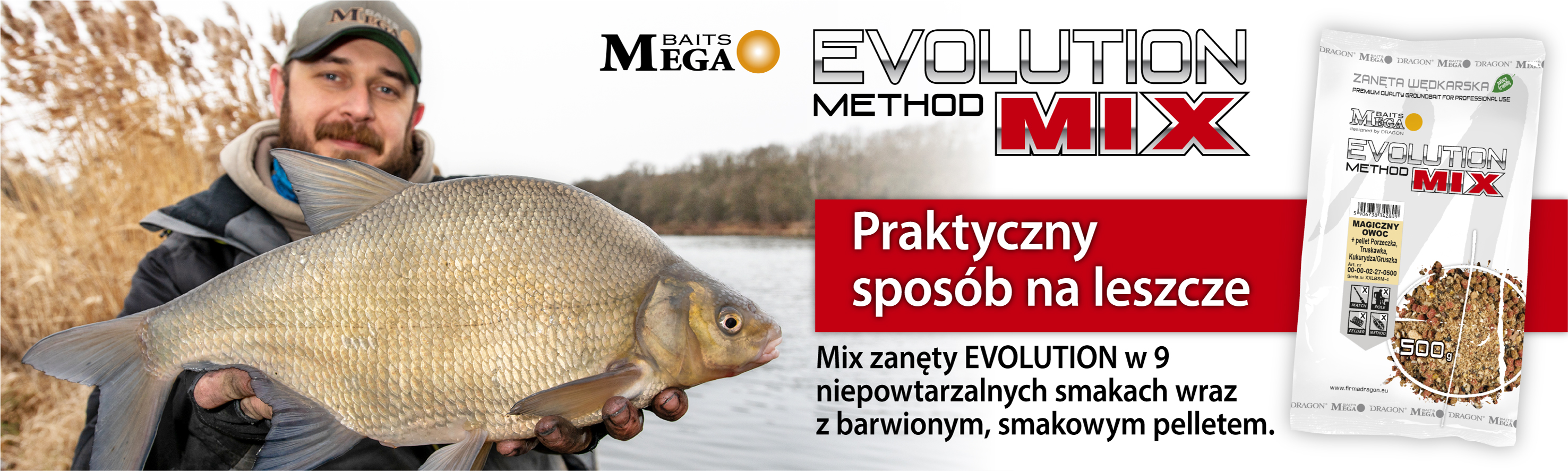Najlepsze Zanęty Dragon MegaBaits - Evolution Method Mix!